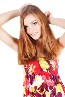 Free Beautiful Carefree Young Girl Stock Photo - 14609270