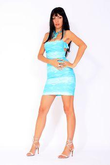 Free Beautiful Fashion Model Wearing Summer Dress Stock Photo - 14609880