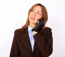 Free Confident Woman Talking On The Cell Phone Stock Photography - 14609912