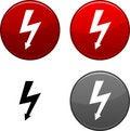 Free Warning Button. Royalty Free Stock Photo - 14610035