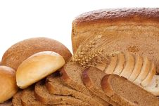 Wheat Ear And Bread Royalty Free Stock Images