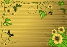 Decorative Floral Gold Frame Royalty Free Stock Photos