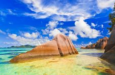 Free Beach Source D Argent At Seychelles Stock Images - 14610284