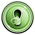 Free Button Top Opened Green Can Of Beer Royalty Free Stock Image - 14625546