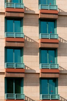 Free Windows And Balcony Of Hotel Stock Photo - 14623450