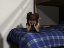 Free 3D Render Young Girl Stock Photo - 14624010