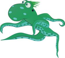 Free Octopus From A Fairy Tale Royalty Free Stock Photography - 14624327