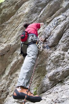 Free Rock Climber Royalty Free Stock Images - 14624469
