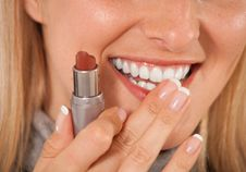 Free Woman With Lipstick Royalty Free Stock Photos - 14624728