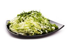 Green Vegetarian Salad Stock Image