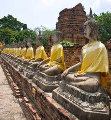 Free The Buddha Status At Ayuttaya Royalty Free Stock Photos - 14624948