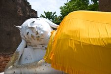 Free The Reclining Buddha At Ayuttaya Stock Images - 14625004