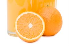 Free Orange Juice In A Decanter Isolated Royalty Free Stock Photo - 14625295