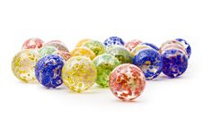 Colorful Decorative Glass Balls Royalty Free Stock Image