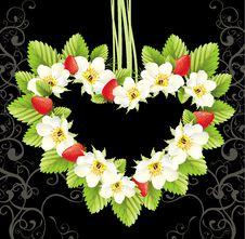 Free Heart Frame Illustration .Strawsberry Royalty Free Stock Photography - 14625447