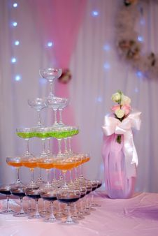 Romantic Champagne Tower