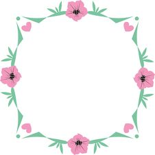 Free Floral Frame Stock Photo - 14626010
