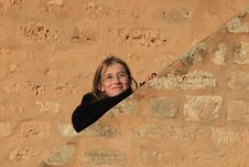 Free Girl On Wall Royalty Free Stock Photos - 14626248