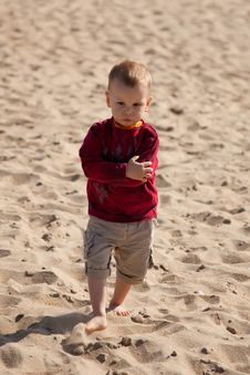 Free Kids Walking At The Beach Royalty Free Stock Images - 14627279