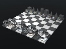 Free Glass Chess Board And Chess Set Stock Photos - 14627353