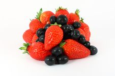 Free Strawberries And Blueberries Stock Image - 14627541