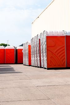 Free Mobile Toilets Royalty Free Stock Image - 14627756