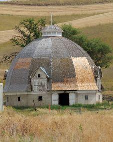 Beehive Barn, Palouse, Washington Royalty Free Stock Images