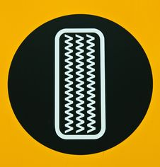 Tire Sign In The Garage Stock Photography