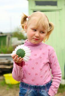 Girl Flower Stock Image