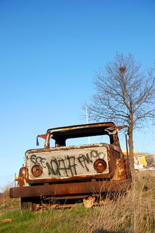 Abandoned Truck Royalty Free Stock Photos