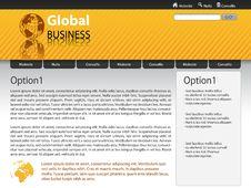 Free Vector Website Design Template Stock Photography - 14628942