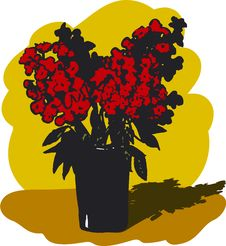 Free Red Flowers In A Vase Royalty Free Stock Photo - 14629005