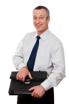 Free Smiling Senior Businessman Stock Photo - 14629110
