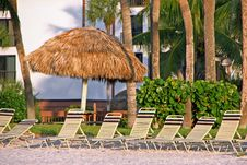 Free Beach Chairs Royalty Free Stock Photos - 14629158
