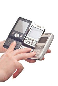 Free Three Mobile Phones Stock Photos - 14629853