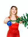 Free Woman With Holiday Decoration Stock Photos - 14633073