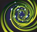 Free Background With Green Spiral And Drops Of Water In Stock Images - 14633914