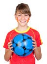 Free Smiling Girl Fan Of The Spanish Team Stock Photos - 14635103