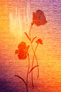 Free Red Poppies On The Canvas. Royalty Free Stock Images - 14639899