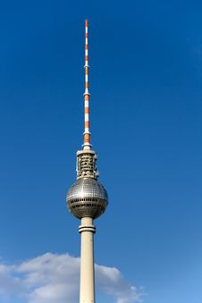 Television Tower In Berlin Royalty Free Stock Photo