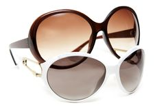 Free Two Sunglasses White And Brown Royalty Free Stock Image - 14630886