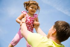 Free Happy Father With His Little Daughter Stock Images - 14630894