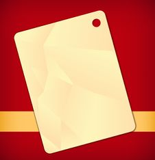 Free Yellow Label On Red Stock Photography - 14631012