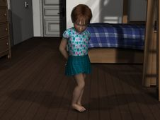 Free 3D Render Shy Young Girl Royalty Free Stock Photography - 14631377