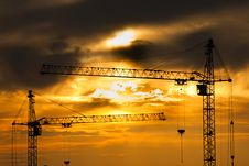 Free Contours Of Building Cranes Stock Photos - 14631833