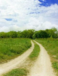 Free Road In Forest 2. Horizontal Stock Images - 14632634