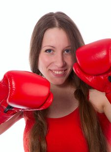 Free Boxing Woman Royalty Free Stock Photos - 14632708