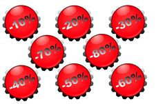 Free Percent Button Stock Image - 14633161