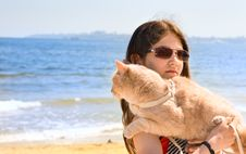 Free Teen Girl With Cat Stock Photos - 14633233