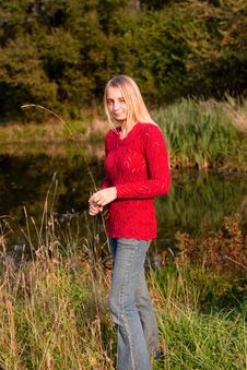 Free Girl In Red Pullover Royalty Free Stock Photos - 14633338